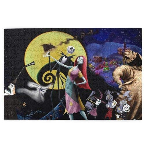 Kechun The Nightmare Before Christmas Puzzle Wooden Puzzle Christmas Picture Family Decorations, Unique Birthday Present Suitable for Teenagers and Adults (The Nightmare Before Christmas2, 300PCS)