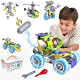 STEM Building Toys 5 in 1 Motorized Educational Construction Building Blocks Toys for 6 7 8 9 + Year Old Boys & Girls | Creative Engineering Building Blocks Toys Kit | Best Birthday Toy Gifts for Kids