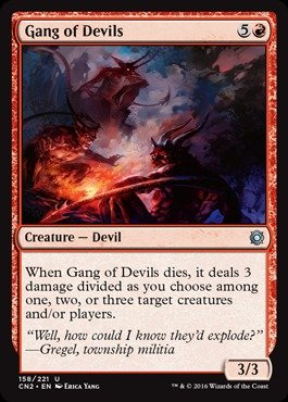 Magic The Gathering - Gang of Devils (158/221) - Conspiracy 2: Take The Crown