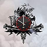 Final Fantasy Game Characters Design Vinyl Record Wall Clock Unique Gifts for him her Gift Ideas for Mothers Day Father Birthday Anniversary Wedding Cute and Original Gifts for Everybody