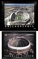 Framed Philadelphia Eagles Veterans Stadium and Lincoln Financial Field - Set of 2