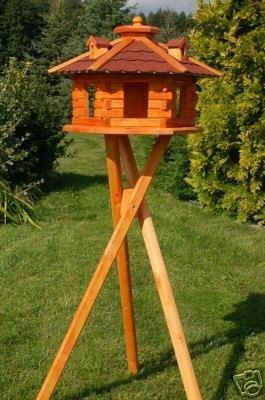 XXL Vogelhaus Vogelhäuschen mit Ständer, Bitumschindeln