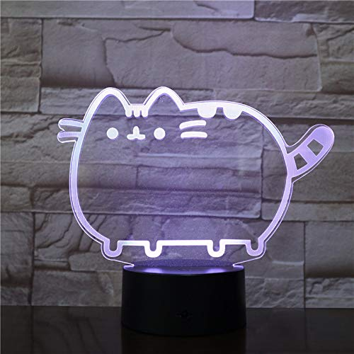 WoloShop Lampara LED Pusheen Cambia Color USB Luz Nocturna