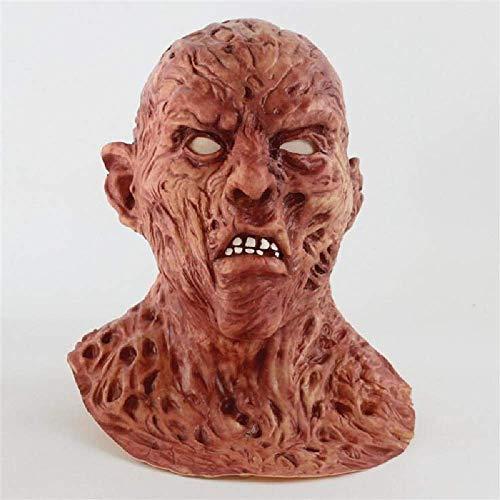 COOGG Realistische Adult Party Kostüm Horror Maske Deluxe Freddy Krueger Maske Scary Dance Carnival Cosplay Zombie Maske