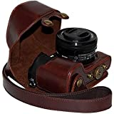 femgee-pu piel funda para cámara bolsa funda con correa para Sony A6000/NEX 6(con lente de 16–50mm)/ILCE-6000L