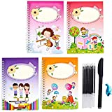 BEIUFRHOWQ Kids Magic Writing Board Reusable Magic Writing Paste Children,Be Reused Handwriting...