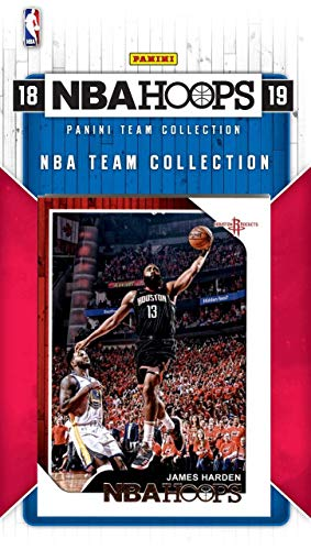 Houston Rockets 2018 2019 Hoops - Juego de 8 Cartas de Baloncesto con Licencia de la NBA, con James Harden, Chris Paul, Eric Gordon Plus
