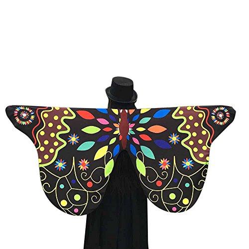 VJGOAL dames sjaal, zachte stof vlinder vleugels sjaal feeënachtige dames Nymphe Pixie Halloween Cosplay carnaval Cosplay kostuum toevoeging