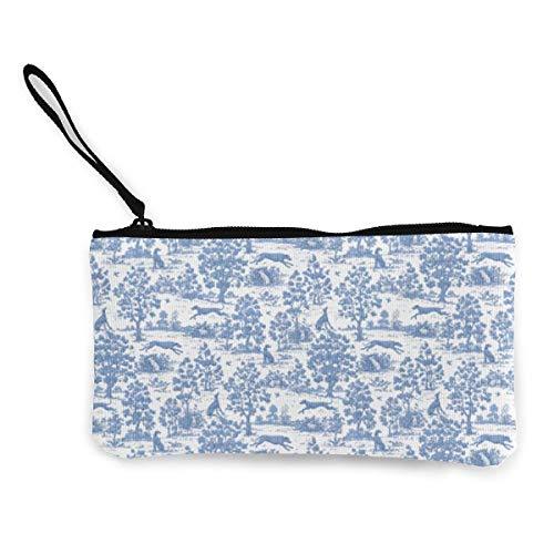 ClownFish Monedero unisex, bolsa de moneda, bolsa de lona azul galgo, bolsa de monedero portátil con cremallera para monedas de pintalabios