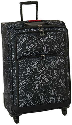 American Tourister Disney Softside Luggage with Spinner Wheels, Mickey Mouse Scribbler Multi-Face, Checked-Large 28-Inch