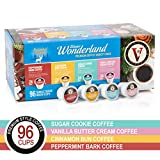 Victor Allen's Medium Roast Limited Time Offer Winter Wonderland Flavored Coffee Variety Pack for K Cup Keurig 2.0 Brewers, Single Serve Coffee Pods, 96 count