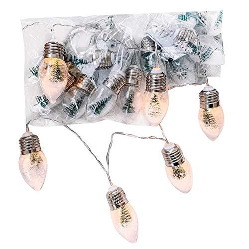 Christmas Tree String Lights Indoor/Outdoor, Upgraded Christmas Lights Built-in Snowflake Christmas Tree View, Decorative Lights for Christmas Tree Garden Patio Bedroom