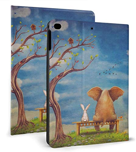 Elephant and Rabbit PU Leather Smart Case Auto Sleep/Wake Feature for IPad Air 1/2 9.7' Case
