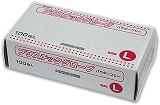 ヘイコー 手袋 プラスチック グローブ パウダーフリー L 100枚入 スワン 004783007