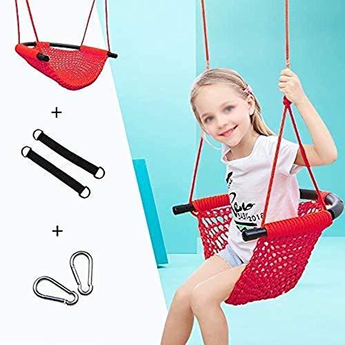 Chaise Intérieur et extérieur Patio Home Entertainment for Les Enfants Balancelle Hanging Balançoire Seul siège Sling (Couleur: Vert), Couleur: Rouge (Color : Red)