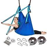 ARNTY Yoga Amaca Antigravity,Aerial Yoga Amaca,Yoga Swing,Yoga Inversione Swing,Yoga Trapeze für Inversionsübung Pilates Gymnastik (Blu&Azzurro)
