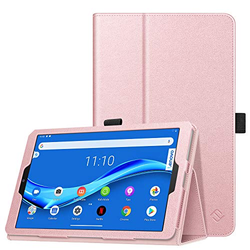 FINTIE Case for Lenovo Tab M8 TB-8705F/TB-8505F/TB-8505X, Slim Fit Folio Premium Vegan Leather Cover with Stand Function Stylus Loop for Lenovo Smart Tab M8 (TB-8505FS) Tablet, Rose Gold