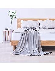 Elegear 2in1 Mikrofaser Selbstkühlende Decke, Kühldecke Kuscheldecke aus Baumwolle Weiche Wohndecke Warm Sofadecke Reisedecke zweiseitige Decke für Erwachsene und Kinder - Grau - 170 x 130 cm