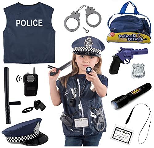 Born Toys 12 Pezzi Costume Polizia per Bambini con...