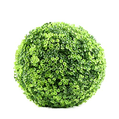 Kunstrasen Kugel Pflanzen Kleines Geld Blatt Erdnuss Gras Kugel Rot Lila Schaufenster Dekoration Hotel Ornamente Künstliche Pflanze Ball, A, 25cm