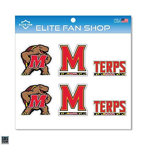 "Elite Fan Shop Maryland Terrapins 3"" Vinyl Decal 6-Pack - Red"
