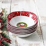 Cuencos de cereales de porcelana de 6 piezas de 440 ml de 6 piezas Cocina Desayuno Cereal de Navidad/Ensalada/Fruta/Postre Bowls Conjunto Regalo Regalos veganos ecológicos