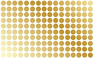 """Polka Dot Wall Decal Nursery Kids Room Peel and Stick Removable Sticker Circle Pattern Decor 1326 (1.5"""" (150 Dots), Gold)"""