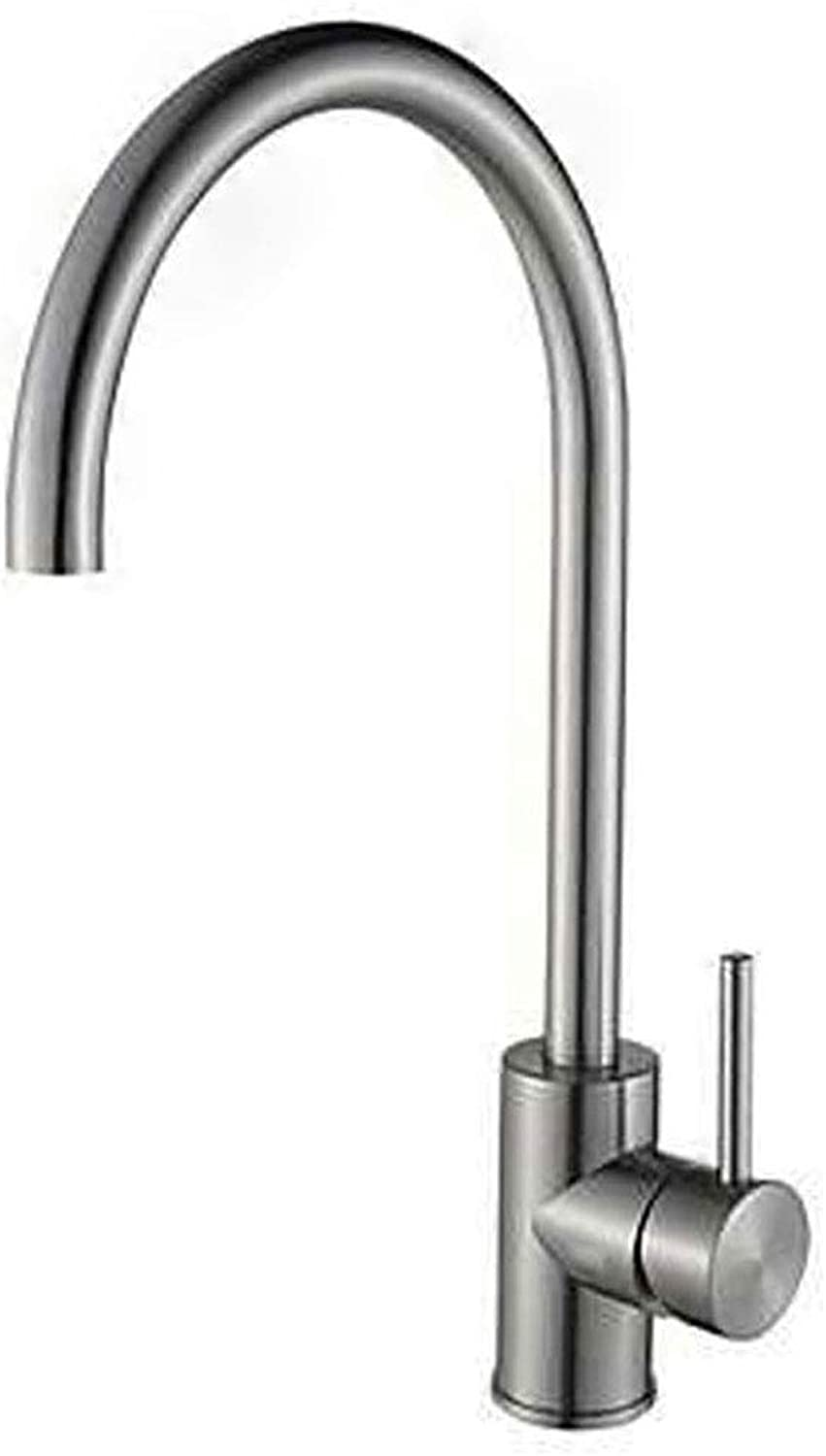 LYCY Kitchen Faucet 304 Stainless Steel 360 Degree Turn Hot And Cold Water Vegetable Basin Faucet