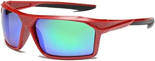 GLJJQMY Sports Polarized Sunglasses Outdoor Riding Glasses Male UV Protective Sunglasses Sunglasses (Color : Red)