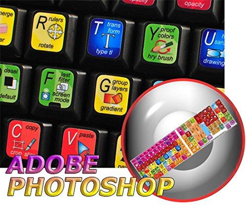 4Keyboard New Adobe Photoshop Keyboard Sticker for Desktop, Laptop and Notebook