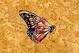 Farfalla su oro tovaglietta in tessuto