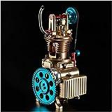 LUCKFY Modelo del Motor de Coche - Full Metal Motor Modelo turística del Motor - sin Montar Car Kit de Conjunto de Motor - Juguete de Montaje para Adultos o niños,Single Cylinder