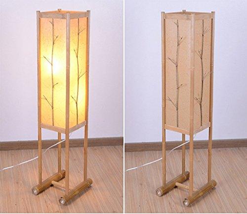 XIN Home vloerlamp, staande led, landelijke woonkamer decoratie vloerlamp creatief licht woonkamer eenvoudige lampen oogbescherming verticale tafellamp hout