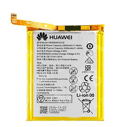 GLITZY GIZMOS® - Batería de repuesto original HUAWEI® HB366481ECW para HONOR 8, P9, P8 LITE 2017 y P10 LITE