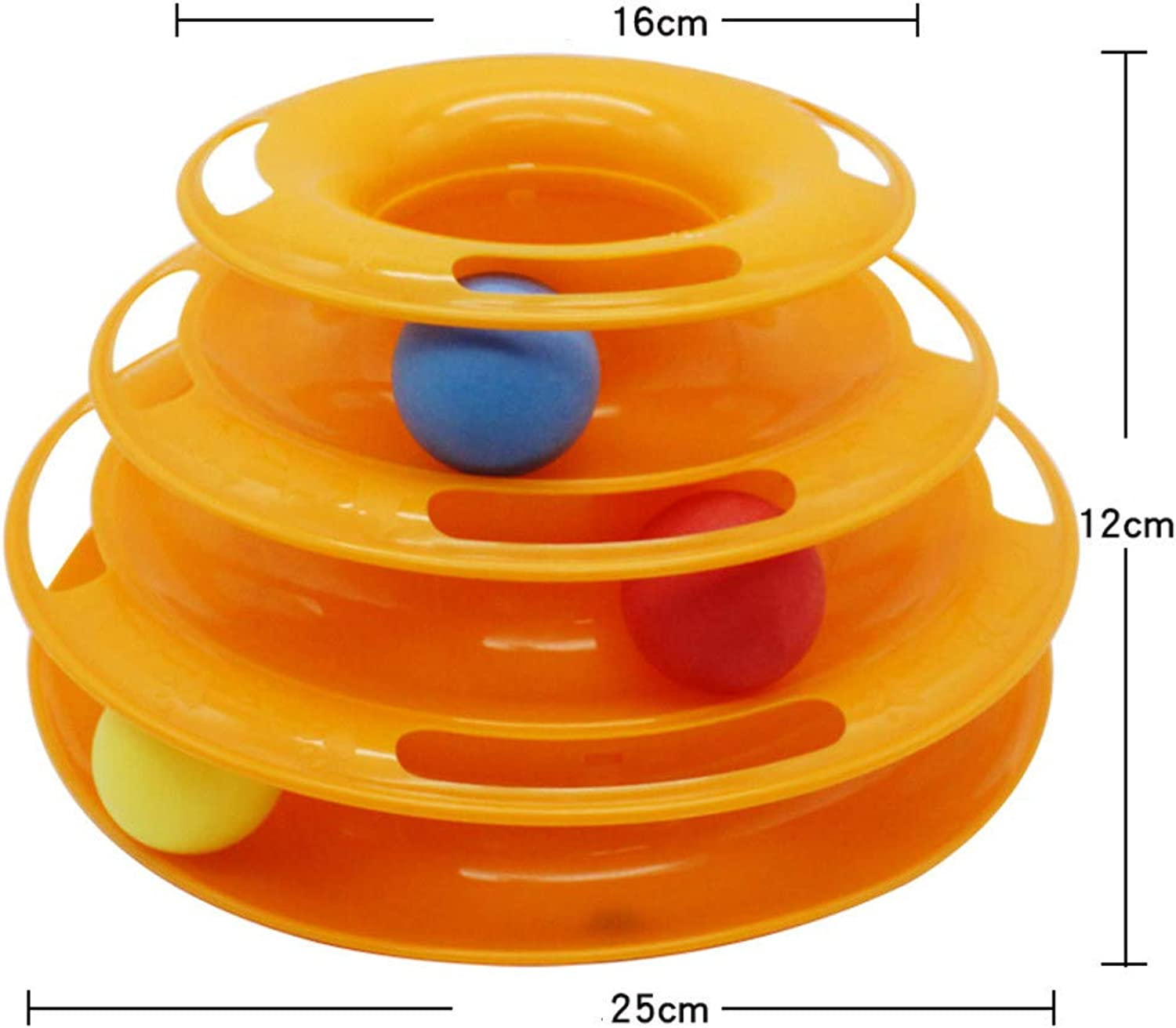 Pet Interactive Toy cat ThreeLayer Turntable Puzzle Play Track Tower Toy Disk A