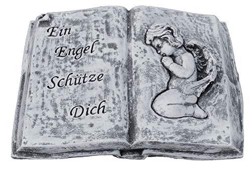 Stone and Style Grabschmuck Steinguss Buch EIN Engel schütze Dich, Frost- und wetterfest