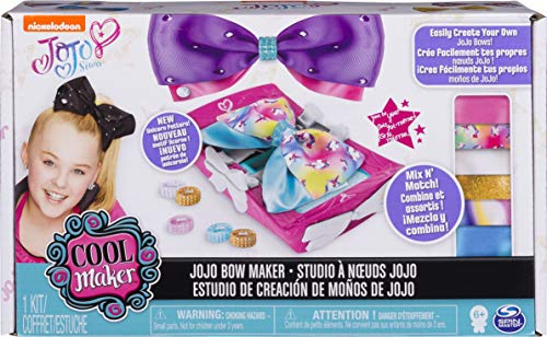 Cool Maker - JoJo Siwa Bow Maker with Rainbow and Unicorn Patterns, for Ages 6 and Up