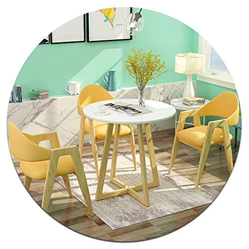 Esszimmerstühle Tisch- und Stuhl-Set (eine Tabelle + 3 Stühle), Homepten und Stühle, Computerrückenhocker, Nordischer Erwachsener, geeignet für Cafés, Tagungsräume