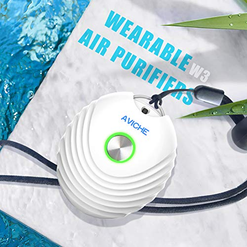 AVICHE-Personal-Air-Purifier-Rechargeable-and-Portable-Necklace-Negative-Ion-Generator-Purifies-Air-Eliminating-Germs-Dust-Viruses-Bacteria-Allergens-Mold-Odors-and-More