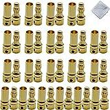 Boladge 20 Paar vergoldete 3.5mm Bullet Männlich Buchse Bananenstecker Rundstecker für ESC Motor Lipo Batterie -