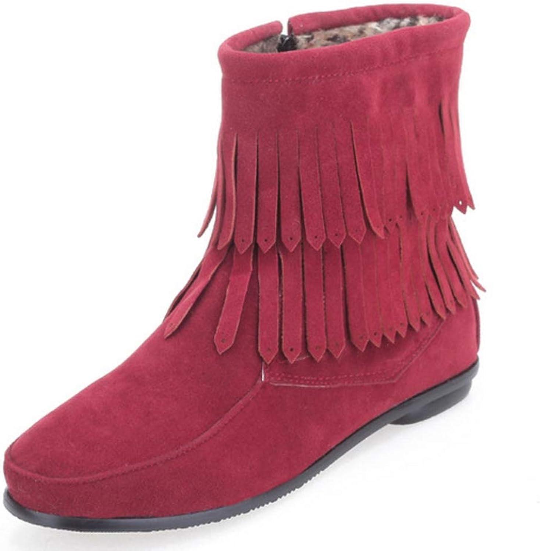 CUTEHEELS Women Martin Flat Boots Black