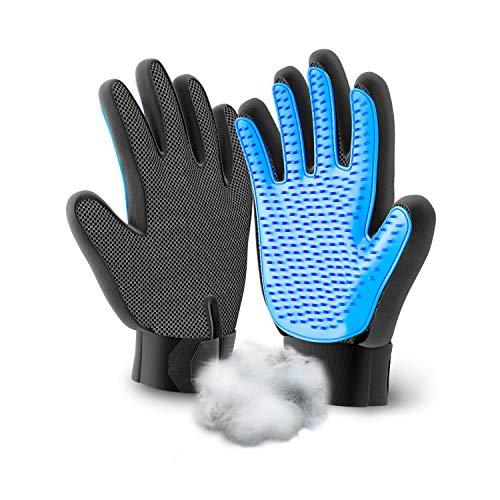 Handschuh für Katzen Hunde Bürste zur Haarentfernung Fellpflege Pflegehandschuh für Katzenhaare Fellhandschuh Handschuhe für Haustier Grooming Massage Pflegebürsten für Lange und Kurze Felle
