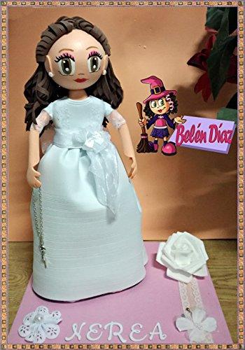 Fofucha mi primera comunión muñeca artesanal 35 cms. niña