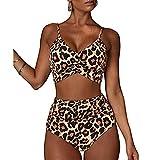 Culater Costume da Bagno Donna Intero Push Up Multicolore Bikini 2 Pezzi Reggiseno Perizoma Costumi Interi Donna Spiaggia Trasparente Sexy Mare Hot Beachwear Bikini Diviso Sexy Stampa Swimsuit