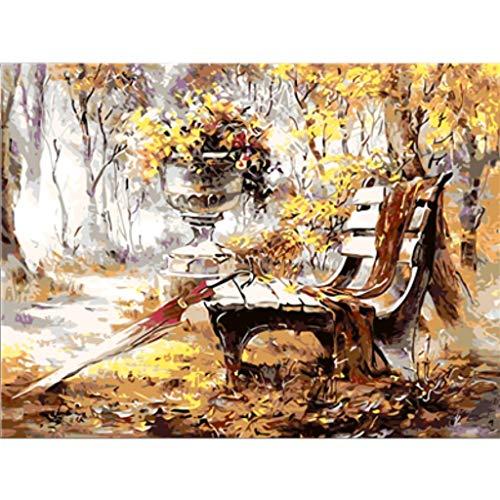 LILICAT Peinture à l'huile de Bricolage par numéro Kit,Peinture au numéro pour Adultes et Enfants 40 x 50cm Toile Peinture à l'huile DIY avec Brosses et Peinture acryliques-Paysage de mer(sans Cadre)