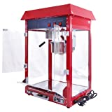 KuKoo - Máquina para Hacer Palomitas de Maíz Roja 230g de Acero Inoxidable