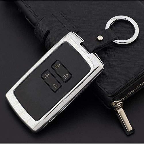 YUFFD Autoschlüsselabdeckung Schlüsselanhänger Aus Zinklegierung Schlüsselanhänger Schutzhülle , Für Renault Koleos Kadjar Keys Mit Schlüsselringetui