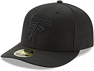 New Era New Era Atlanta Falcons Black on Black Low Profile 59FIFTY Fitted Hat スポーツ用品 【並行輸入品】