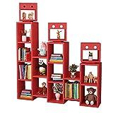 Yanxinenjoy Superladbares, hochbeständiges Kinder-Mehrfarben-Bücherregal mit großem...