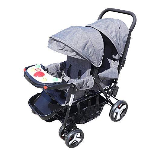 Falten Geschwisterwagen Stahl Zwillingswagen Baby Buggy Doppelkinderwagen Twins